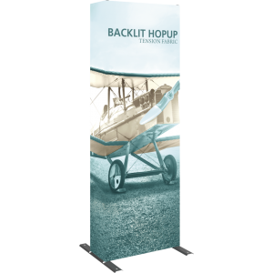 Hopup 2.5ft Backlit Straight Full Height Tension Fabric Display Kit